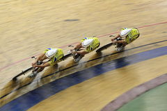 Team sprint - track cycling Royalty Free Stock Photo