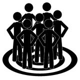 The team vector illustration