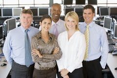 Team Of Stock Traders. Team Of Male And Female Stock Traders Looking Happy Royalty Free Stock Images