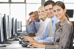 Team Of Stock Traders At Work Stock Photos
