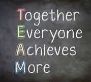 Team Strategy Concept Fotografía de archivo