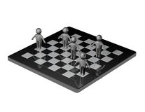 Team and strategy concept with chess board Royalty Free Stock Photography