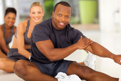 Team stretching exercise Royalty Free Stock Images