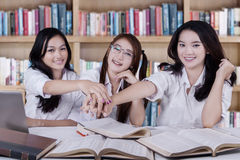 Team of student showing their unity Stock Image