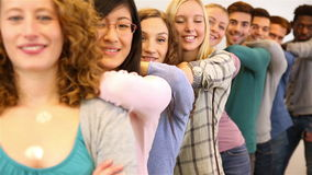 Team of students in university Stock Images