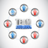 Team success diagram concept illustration design Stock Image