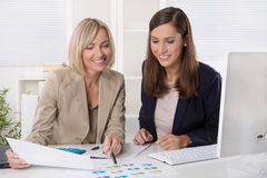 Team of successful businesswoman in the office working in leadin Stock Photo