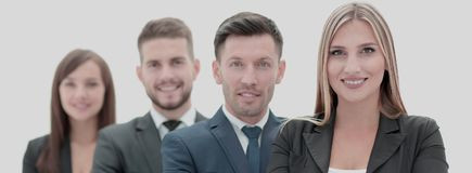 Team of successful and confident people posing on a white backgr. Successfull busines team isolated on white background Royalty Free Stock Photography
