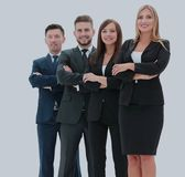 Team of successful and confident people posing on a white backgr. Successfull busines team isolated on white background Stock Images