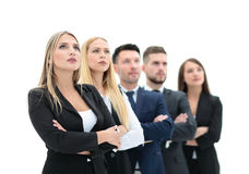Team of successful and confident people posing on a white backgr Royalty Free Stock Images