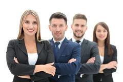 Team of successful and confident people posing on a white backgr. Successfull busines team isolated on white background Stock Photography