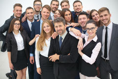 The team of the successful people with their boss Royalty Free Stock Photography