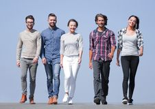 Team of successful young people.outdoors. royalty free stock photos