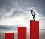 Team sucht nach neuer Investition Lizenzfreie Stockfotos