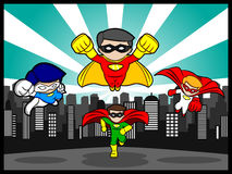 Team Superhero. An illustration of a team superhero Royalty Free Stock Photography