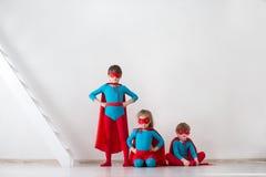 Team of superheroes. Kids superheroes. Royalty Free Stock Images