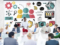 Team Support Care Help Trust-Samenwerkingsconcept Royalty-vrije Stock Afbeelding