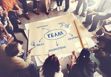 Team Support Ideas Business Concept Imagem de Stock Royalty Free