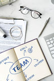 Team Support Ideas Business Concept Stock Image