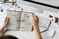 Team Support Ideas Business Concept Royalty-vrije Stock Foto