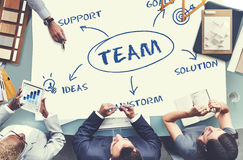 Team Support Ideas Business Concept imagem de stock