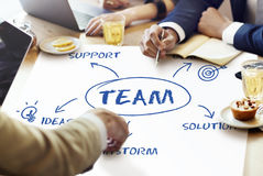Team Support Ideas Business Concept Stock Photography