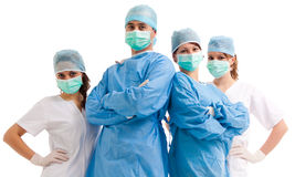 Team of surgeons and nurses Stock Image