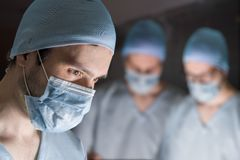 Team of surgeons during operation Royalty Free Stock Photo