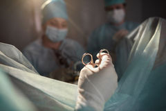 Team of surgeons performing operation royalty free stock photos