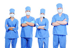 Team of surgeons in uniform Royalty Free Stock Image