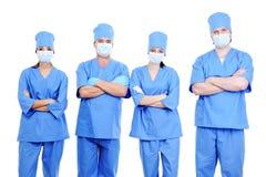 Team of surgeons in uniform Royalty Free Stock Image
