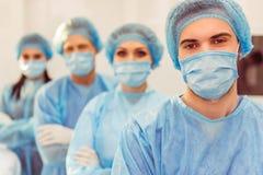 Team surgeons at work Stock Photo
