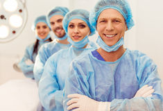 Team surgeons at work Royalty Free Stock Images