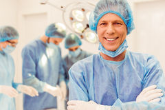 Team surgeons at work Stock Image