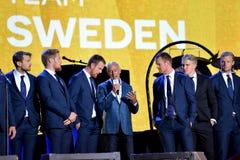 Team Sweden hockey team Royalty Free Stock Photos