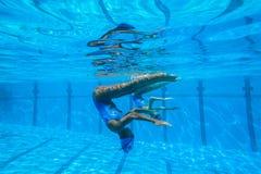 Team Swimming Girls sincronizado Imagens de Stock