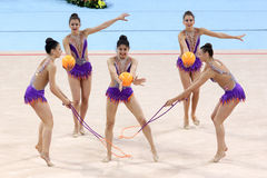 Team Switzerland Rhythmic Gymnastics stockbilder