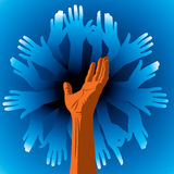 Team symbol of hands Royalty Free Stock Photo