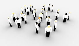 Team talk. Groups of iconographic business persons in talk Royalty Free Stock Images