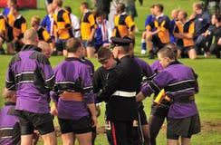 Tug of War team, royal highland games Stock Images