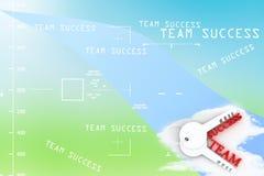 Team tangenter med ord och framgång, affärsidéillustration Fotografering för Bildbyråer