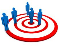 Team on target Royalty Free Stock Photos