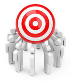 The team target Royalty Free Stock Image