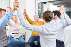 Team in team building meeting Royalty Free Stock Photography