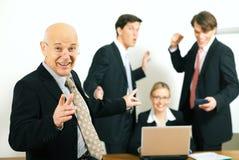 Team and Teamleader: success Royalty Free Stock Photos