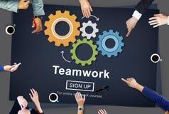 Team Teamwork Collaboration Cooperation Concept Foto de archivo