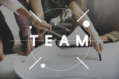 Team Teamwork Collaboration Cooperation Concept Royalty Free Stock Image