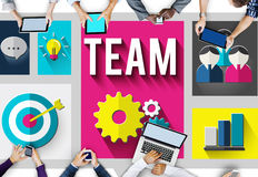Team Teamwork Collaboration Cooperation Concept Royalty Free Stock Photos