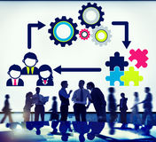 Team Teamwork Collaboration Corporate Concept Royalty Free Stock Photos