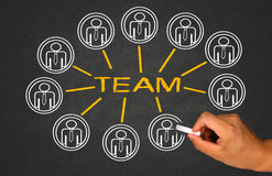 Team and teamwork Royalty Free Stock Photography